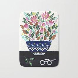 Flowers in a Vase 2 Bath Mat