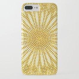 Dotted sunshine mandala iPhone Case