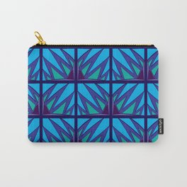 Decorative Purple Points Carry-All Pouch