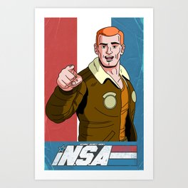 iN.S.A - iNternet Security Agency Art Print
