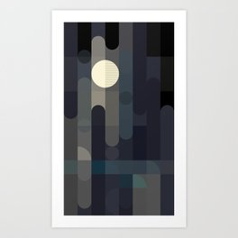Lunar Elements Abstract Art Print