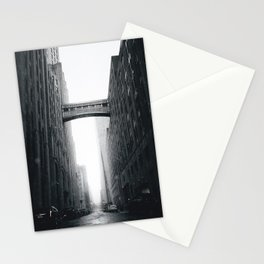 Snow Bridge in New York Stationery Cards