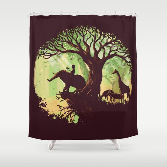 The jungle says hello Shower Curtain