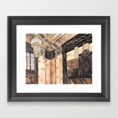 inside the Art Deco spaceship Framed Art Print