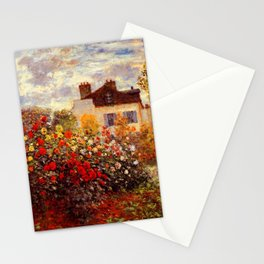The Garden of Monet at Argenteuil, 1873 by Claude Monet Stationery Cards