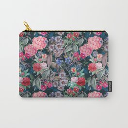 Floral on Dark Background Carry-All Pouch