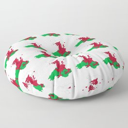 Flag of Wales 2 ,uk,great britain,dragon,cymru, welsh,celtic,cymry,cardiff,new port Floor Pillow
