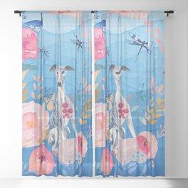 An OCeAN of LOVe  Sheer Curtain