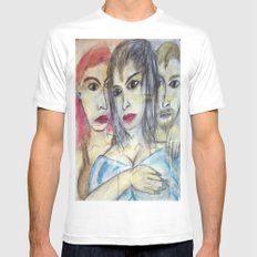 THREESOME White SMALL Mens Fitted Tee