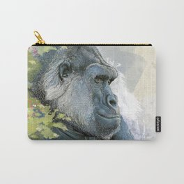 Silverback Gorilla In Contemplation Carry-All Pouch