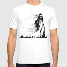 Inkie Over London MEDIUM White Mens Fitted Tee