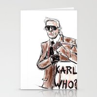 karl Stationery Cards featuring Karl who? by Kalli