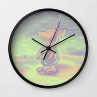 piglet Wall Clocks featuring Piglet by Jennifer Kathryn Lee