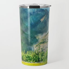 Yosemite Valley Waterfall Travel Mug