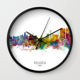 Kolkata (Calcutta) India Skyline Wall Clock