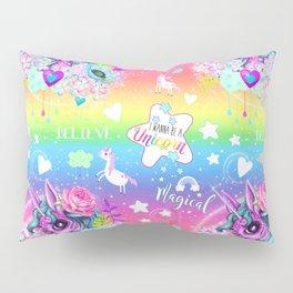 I wanna be a Unicorn Pattern Pillow Sham