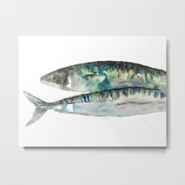 Mackerel Ink Metal Print