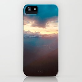 Sunset over the Misty Mountains iPhone Case