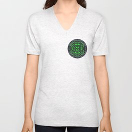 Geometric Countdown Unisex V-Neck