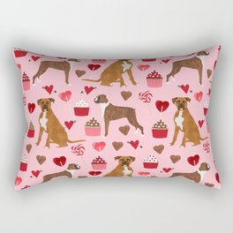 Boxer valentines day cupcakes heart love dog breed must have gifts Rectangular Pillow