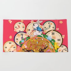 Running with time Beach Towel