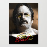 better call saul Canvas Prints featuring Better Call Saul by JackCat