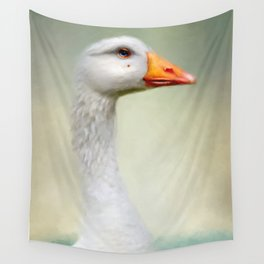 Goose with a beauty spot Wall Tapestry