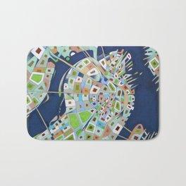 city map Bath Mat