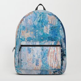 The Avenue in the Rain Painting by Childe Hassam Backpack