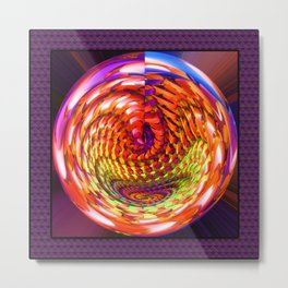 Framed glass spiral Metal Print