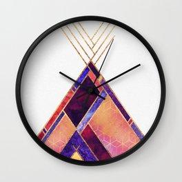 Tipi Mountain Wall Clock