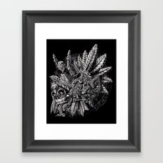 Aztec Great Lizard Warrior 1 (Triceratops) Framed Art Print
