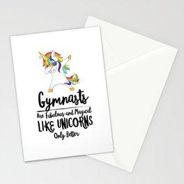 Copy of Gymnast Unicorn Gym Fitness Gymnastics Jump Flip Magical Fabulous Stationery Cards