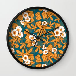 Sweet Potato / Limited Color Palette Wall Clock