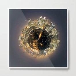 City Planet Metal Print