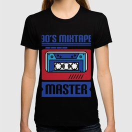 """Awesome design with cool text made just right for you! """"90's Mixtape Master"""" makes a nice gift! T-shirt"""