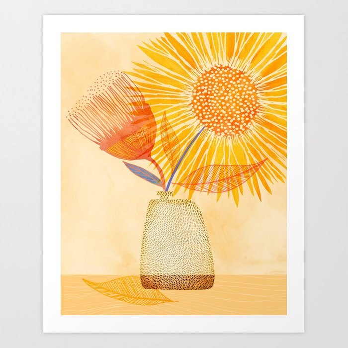 Tuesday Afternoon Sunflowers Art Print