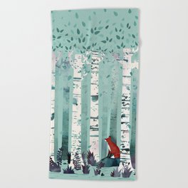 The Birches Beach Towel