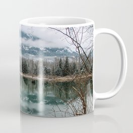 snowy reflection Coffee Mug