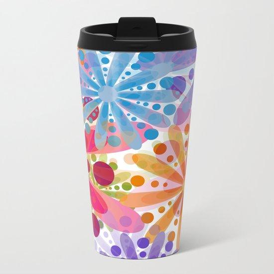 Flower 32 Metal Travel Mug