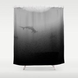 Schooling hammerheads Shower Curtain
