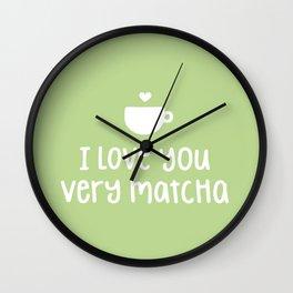 Love You Very Matcha Wall Clock