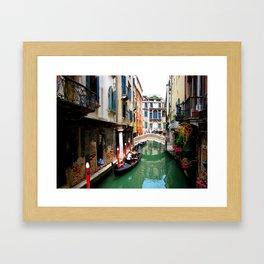 A Venice Canal Framed Art Print