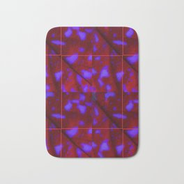 Deep Red with Purple Splotches Bath Mat