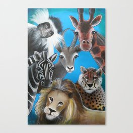 Jungle Animals Canvas Print