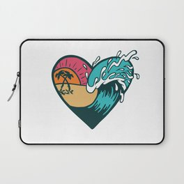 Wave Heart Laptop Sleeve