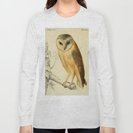 Naturalist Barn Owl Long Sleeve T-shirt