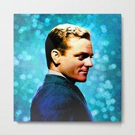 James Cagney, blue screen Metal Print