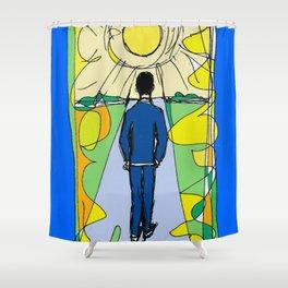 Aaron  Alter `Solar Rays'              by Kay Lipton Shower Curtain