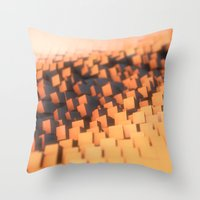 cabin pressure Throw Pillows featuring Pressure by Christoph Grigoletti